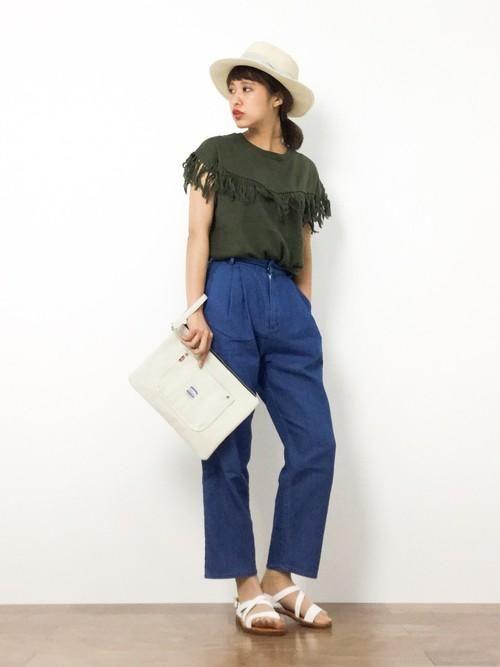 簡単にボヘミアン♪ 秋まで着れる おすすめのフリンジTシャツ♡|マシマロ