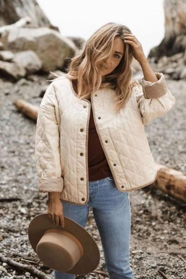 Cream Quilted Jacket Trend 2021