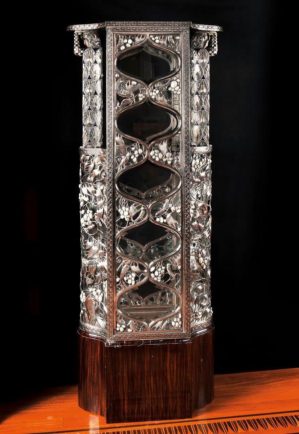 Silver vitrine by Carl Otto Czeschka---Viennese design