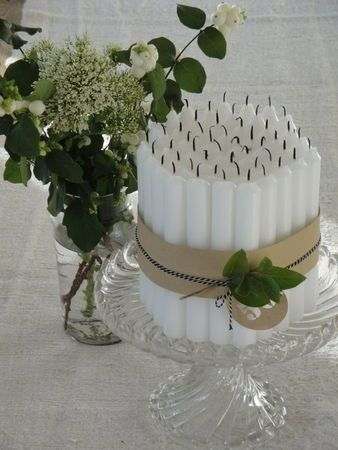 gateau de bougies  et pourquoi pas !!! très sympa :))