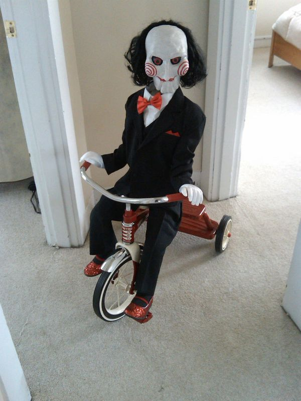 Clown Puppet Halloween Prop Life Sized Haunted Dol…