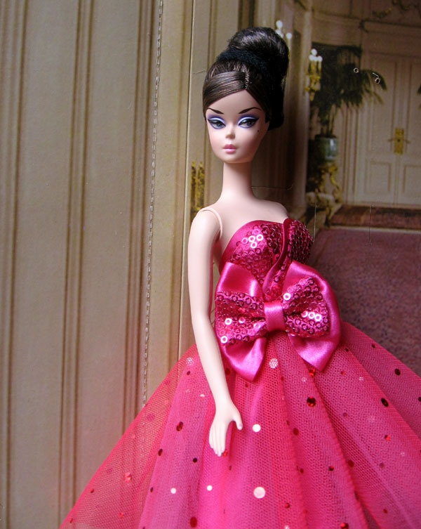 Boater doll in Pink