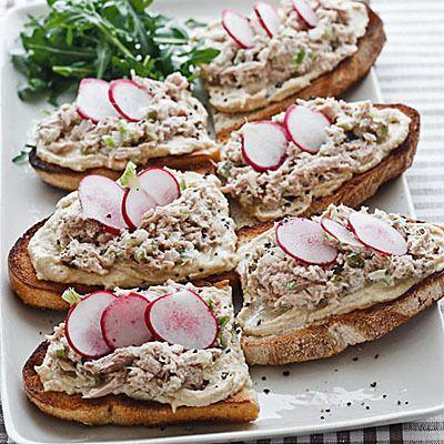 Barefoot Contessa's Tuna and Hummus Sandwiches -Ina Garten