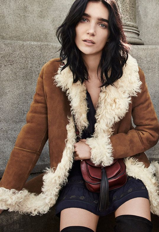 Yves Salomon Biscuit Shearling Penny Lane Coat | S…