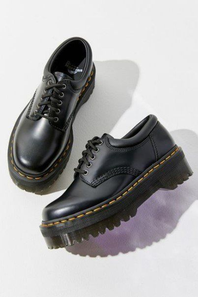 Leather Autumn Platform Shoes With Laces