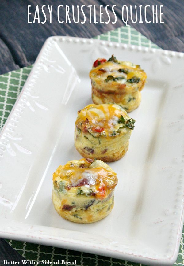Easy Crustless Quiche - Butter With a Side of Bread