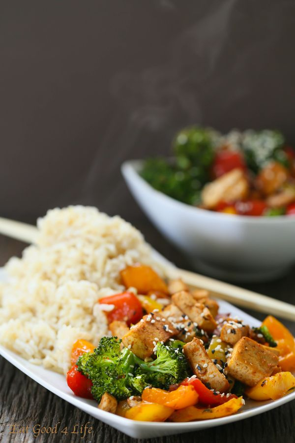 quick veggie tofu stir-fry recipe | Eat Good 4 Life #vegetarian #glutenfree #dairyfree