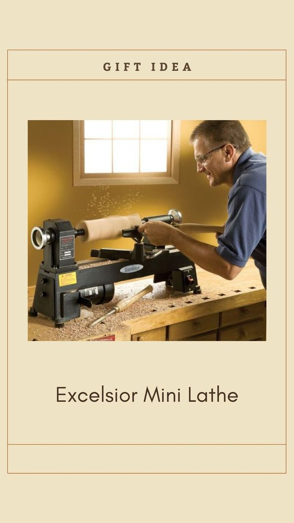 The Excelsior 5-Speed Mini Lathe can turn bowls of almost 10
