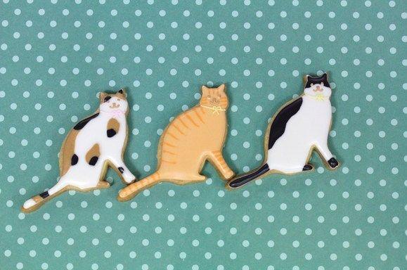 ねこ : 動物モチーフのアイシングクッキー - NAVER まとめ