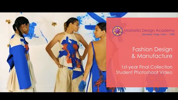 Neomi joined Marbella Design Academy in January 2020, on our accelerated 1st-year intake in Fashion Design & Manufacture. On the 14th of August, she presented a fantastic final project composed of 6 garments, all based on the artworks of Yves Klein. Here we are sharing her photoshoot video that she used during her presentation.