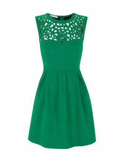 emerald cutout dress.