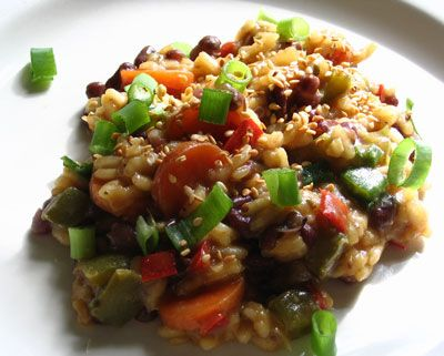 Spicy Azuki Bean Risotto | Lisa's Kitchen | Vegetarian Recipes | Cooking Hints | Food & Nutrition Articles