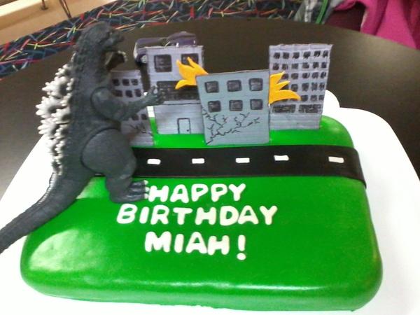 Mothra Birthday Cake