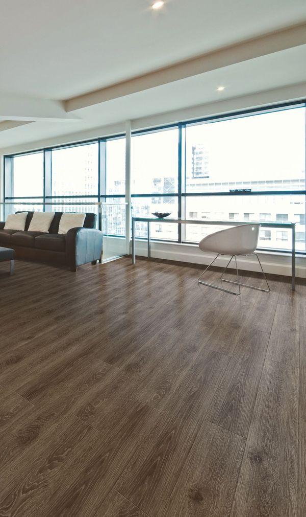 Expona SimpLay PUR loose lay luxury vinyl tile flooring in Dark Country Oak