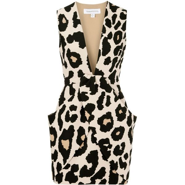 Finders Keepers Leopard Print Neoprene Mini Dress…