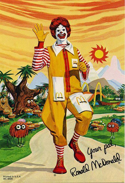 McDonalds - Ronald McDonald Photo cards 5 of 5 - Ronald in 1975 - 1970's   Flickr - Photo Sharing!