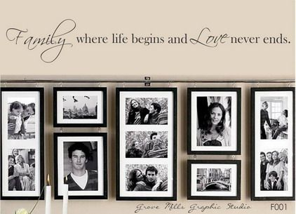 Cute Love Family Inspirational Quotes and Sayings Pictures for Living Room Wall