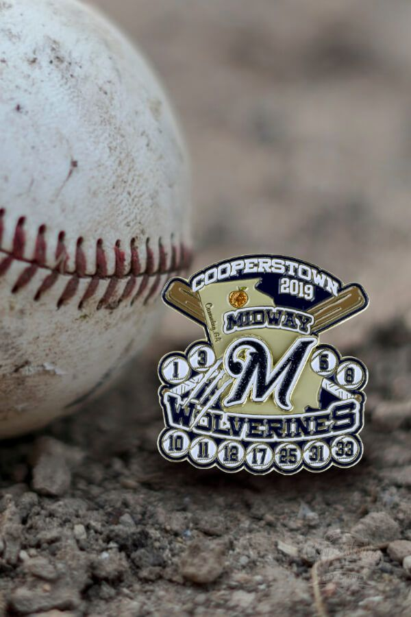 Check out this trading pin weve created for Midway Wolverines back in 2019. Grab your Cooperstown Trading Pin today!