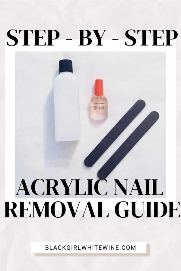 Today I wanted to share how I remove acrylic nails at home. The process is simple, cheap, and only took an hour so I decided to share with you! Read all about the tools you need on blackgirlwhitewine.com