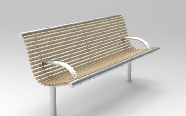 stainless steel street furniture -  Centerline CL0035 Composite Seat - steel bench from benchmark street furniture