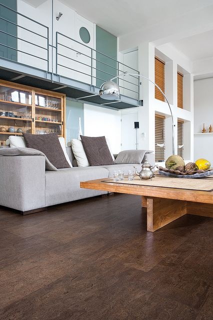 Cork Floor Living Room by Real Cork Floors. Living Room?31 years we have had cork flooring in our kitchen...I regret not doing the whole house, especially in this beautiful design