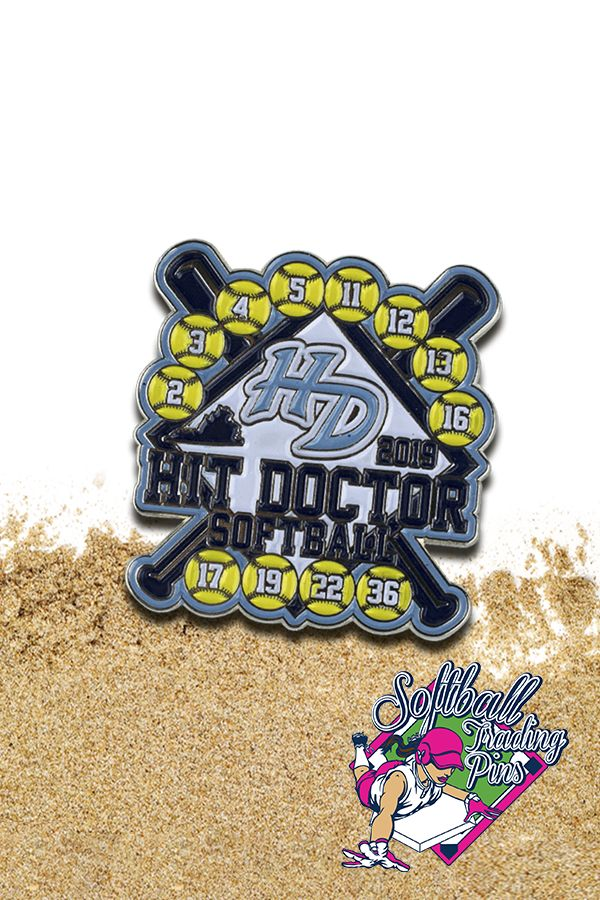 These softball trading pins are just what the doctor ordered 🥼🩺 Put a smile on your teams faces this season 🥎