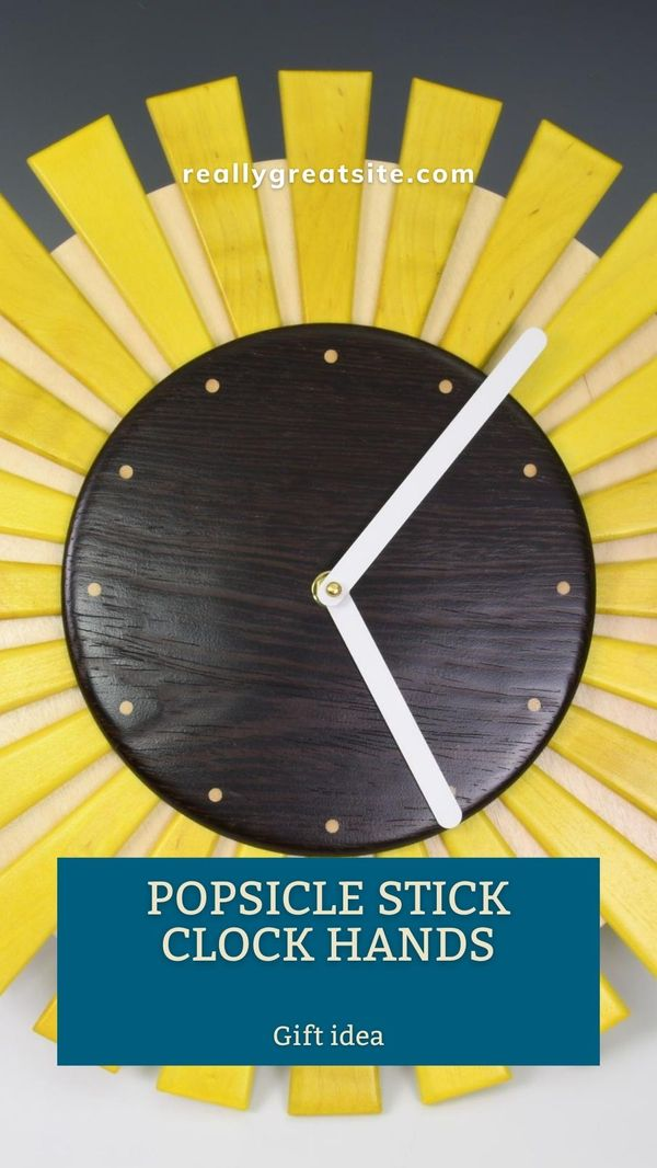 Heres a handy solution for clock hands that wont cut into your creativity. Simple modern lines make for bold styling thats easy to read, even from a distance. Thanks to the wide selection of styles and sizes, offered in either a black with white on the back or gold finish, youre sure to find something that ticks all the boxes so you can focus on the woodwork. #woodworking #gifts #diy #woodworker