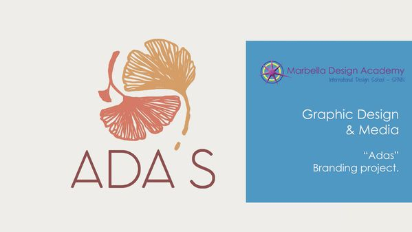 """Adas"" is a branding project presented by Alejandra Balmseda during her 3rd Graphic Design & Media year at Marbella Design Academy. Based on the concept of a new sugar-free restaurant, she created the logo and full application of its concept for all restaurant needs.  The animation below will show you the key part of her research and development described in her presentation workbook."