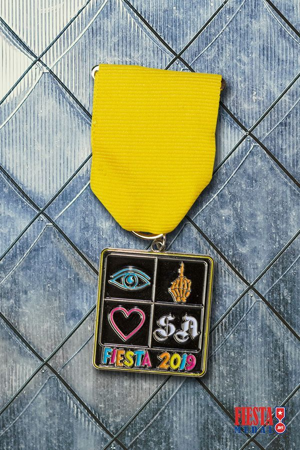 Todays featured medal is this cool design by Eye Skeleton Heart for their Fiesta 2019 participation. 😎 We want to share your Fiesta medals that we have created. Every week, lookout for a new medal from one of you! Tag Fiesta Medal on Facebook or Instagram with a quick description of your medal, and dont forget to use the hashtag #fiestamedalpride. Preparing for Fiesta 2022? Fill out our free quote form today!
