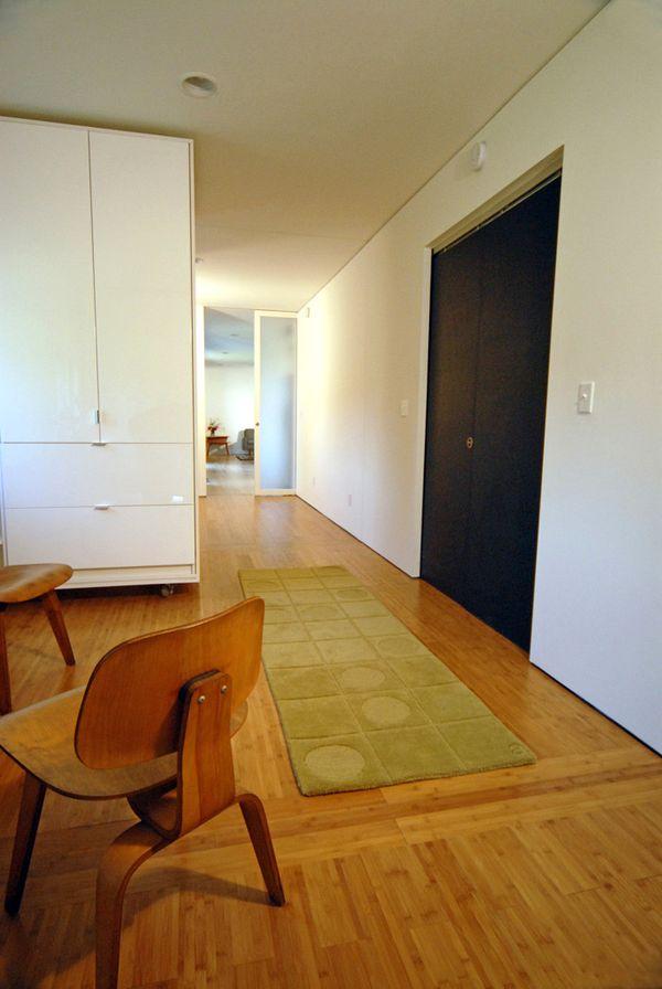 Bamboo flooring; carbonized horizontal style.