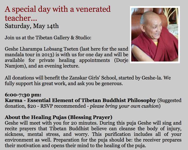 5/14/2016 at Tibetan Gallery & Studio #Sebastopol #Puja #karma #dharma #Buddhism #DrepungGomang
