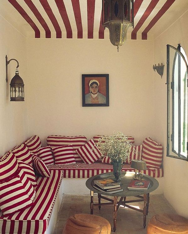 "DANIELLE HAUSBERG DESIGN on Instagram: ""Stripes, always timeless #designinspiration Design by Gavin Houghton of his Moroccan home. Photography by @roland_beaufre. Image via…"""