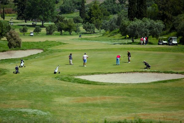 Golf practice is a great pleasure in Olive Grove, the ideal golf destination!   #PortoCarras #OliveGrove #golf #training #saturdaymorning #golfing #Halkidiki #sithonia #greece #golfcourse #golflovers