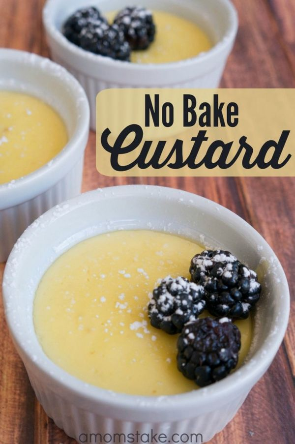 No Bake Vanilla Custard Recipe - A perfect, easy, 5-ingredient dessert! Like a pudding, but with a better taste and texture! AD