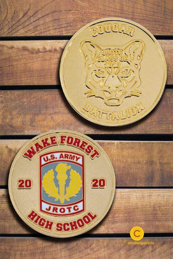 Presenting another dose of the challenge coins weve helped create in the past years—Wake Forest High School. Got coin designs you want to materialize? Were here to help!