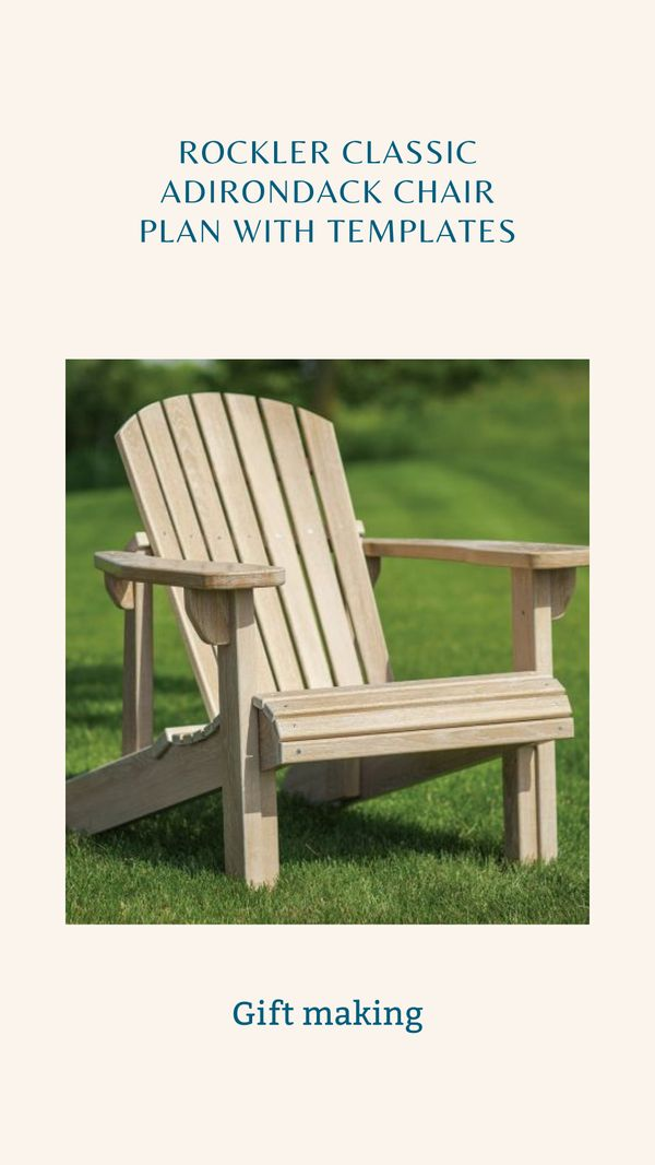 Pre-cut full-size templates make building this chair as easy as trace, cut and assemble! Choose from rigid MDF templates for repeated use with guide bushings, or the more affordable cardboard templates, which work well if youre only making one project. Perhaps no woodworking project is so immediately rewarding to the tired craftsman as a comfortable, welcoming Adirondack chair. #woodworking #gift #diy