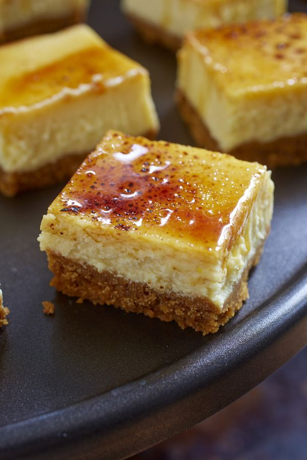 Creme Brulee Cheese Cake Squares - click on the picture, then scroll all the way down the page until you find the recipe.