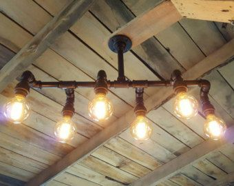 Rustic Industrial Lighting Chandelier Edison By Farmsteadironworks Home Decor That I Love