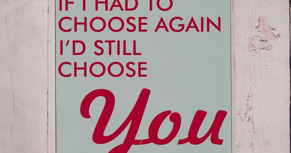 If I Had To Choose Again Wooden Sign Typography Word Art
