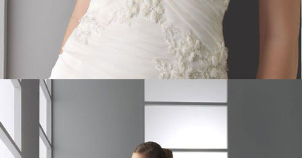 Pretty A-line dropped waist organza wedding dress. Beautiful dress!!!!!!
