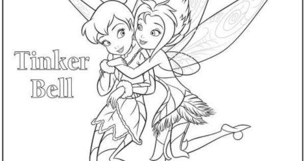 Tinkerbell and Periwinkle colouring page  coloring ...