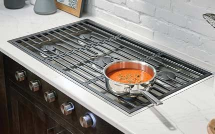 Flush With Counter Wolf Contemporary Gas Cooktop Eclectic