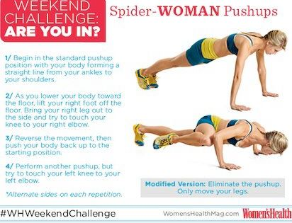 Spider Woman Pushups