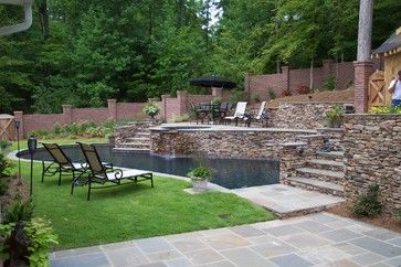 Hillside Pool Design Ideas Pictures Remodel And Decor Hillside Pool Sloped Backyard Pool Patio Designs