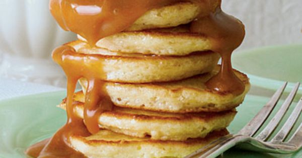 Caramel Cake Pancakes Recipe - Over-the-Top Christmas Morning Pancake Recipes - Southern
