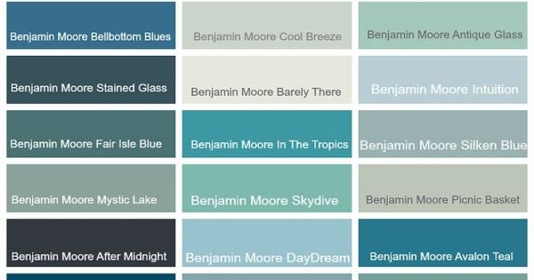Coastal paint colors by benjamin moore coastal home for Popular blue colors