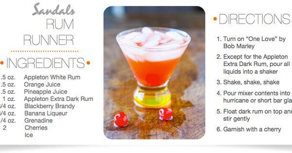Sandals Rum Runner | Drinks | Pinterest | Rum and Sandals