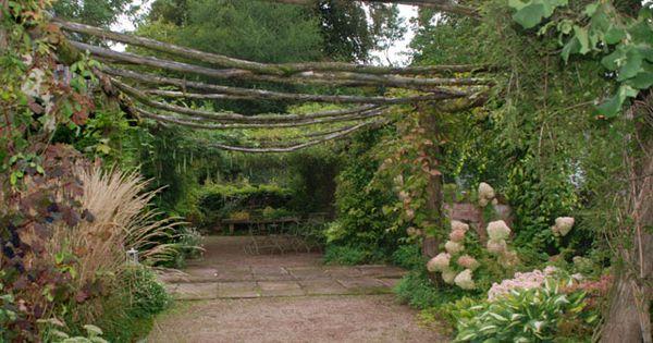 Pergola vue du desssous jardin garden pinterest for Conseil plantation jardin
