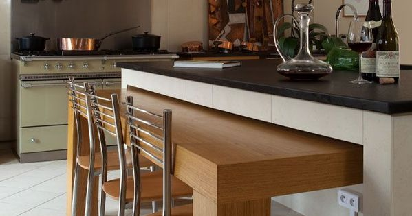Id e am nagement de bar dans cuisine d co pinterest for Amenagement cuisine bar