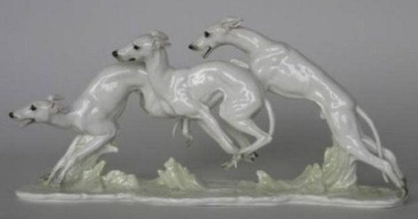 hutschenreuther porcelain whippet figurine art deco dog 1960 39 s whippet world pinterest. Black Bedroom Furniture Sets. Home Design Ideas